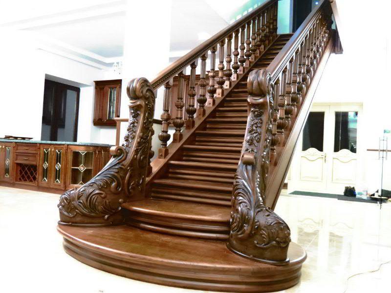 Деревянная лестница под ключ D 1003