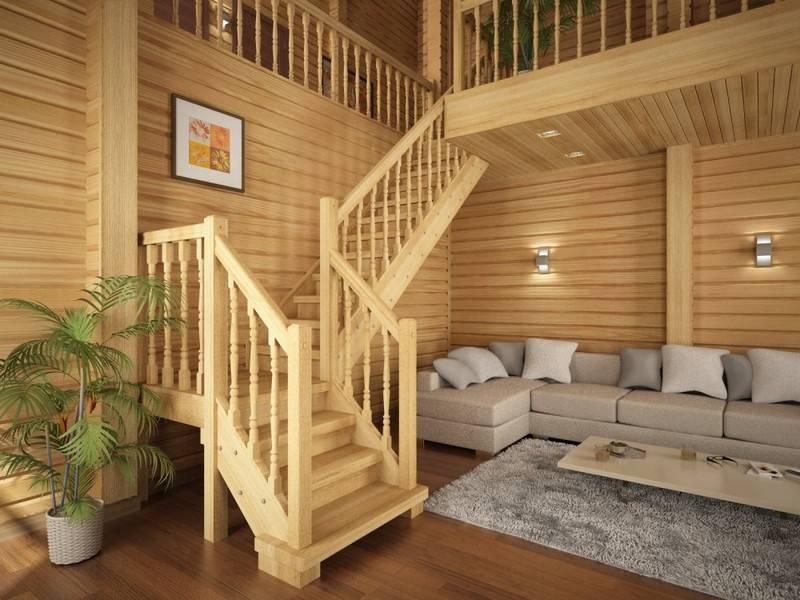 Деревянная лестница под ключ D 1014