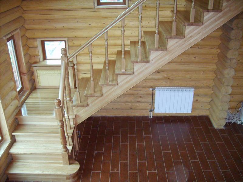 Деревянная лестница под ключ D 1020