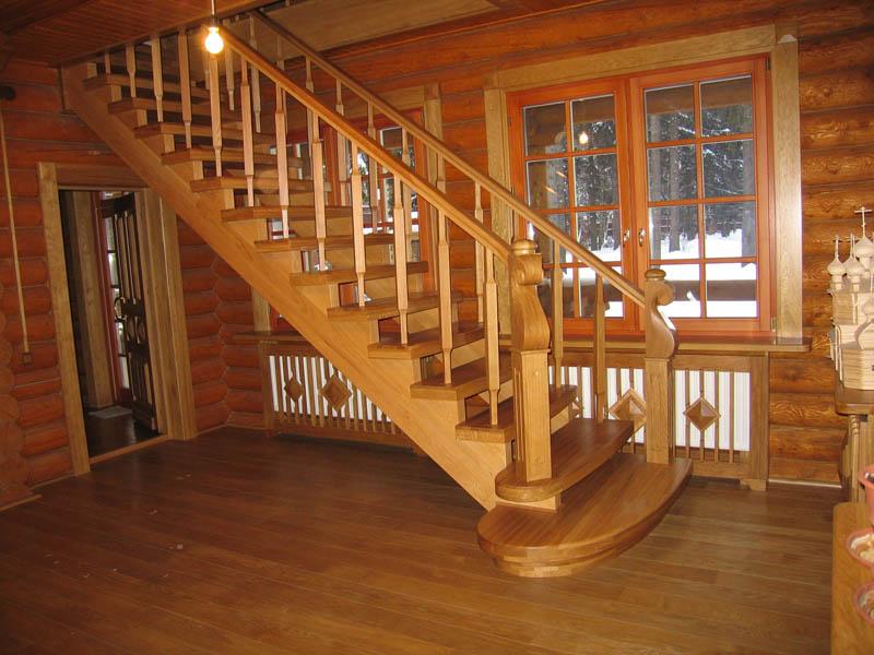 Деревянная лестница под ключ D 1031