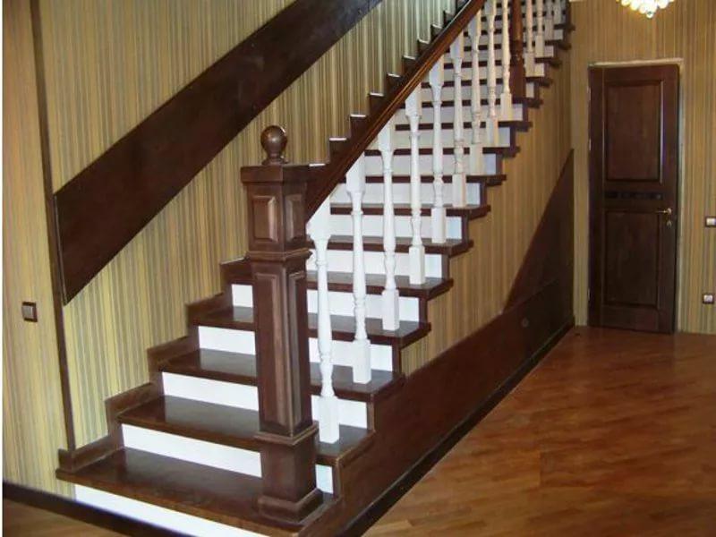 Деревянная лестница под ключ D 1032