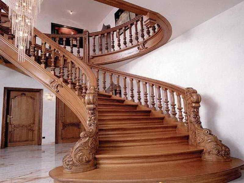 Деревянная лестница под ключ D 1038