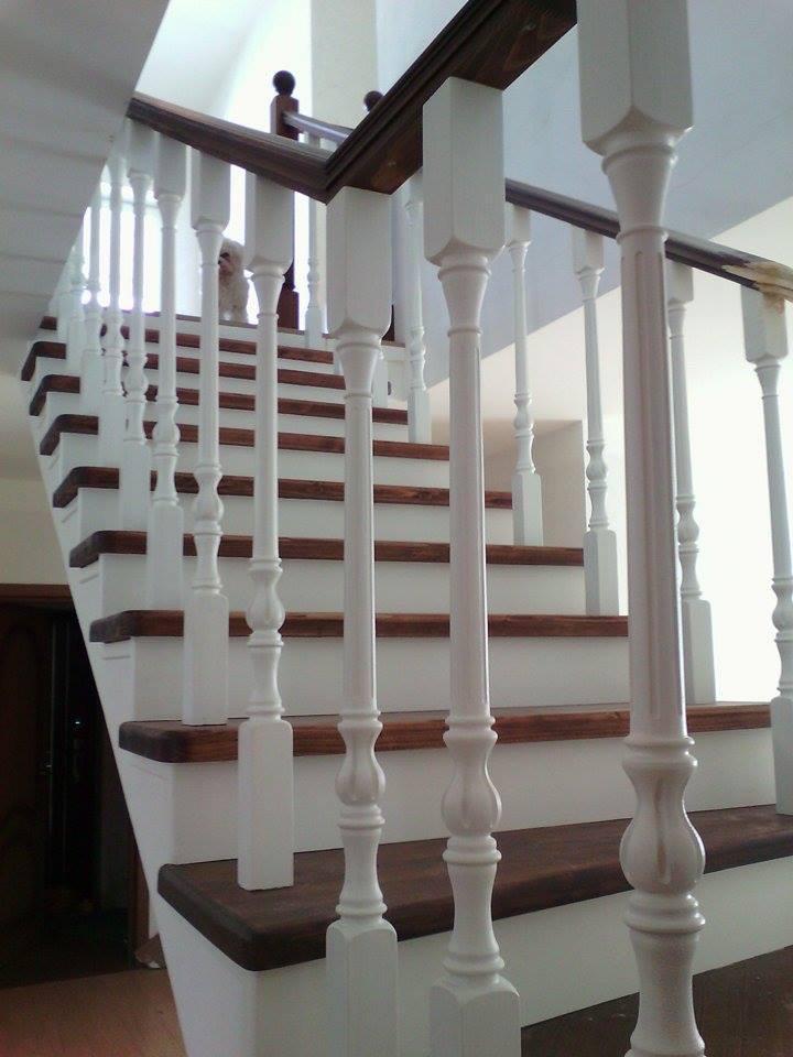 Деревянная лестница под ключ D 1055