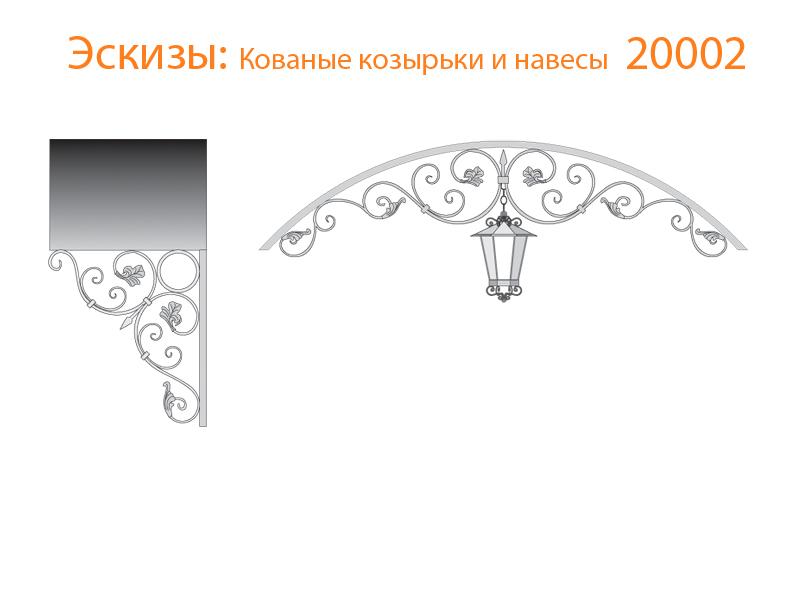 Кованые козырьки и навесы эскизы N 20002