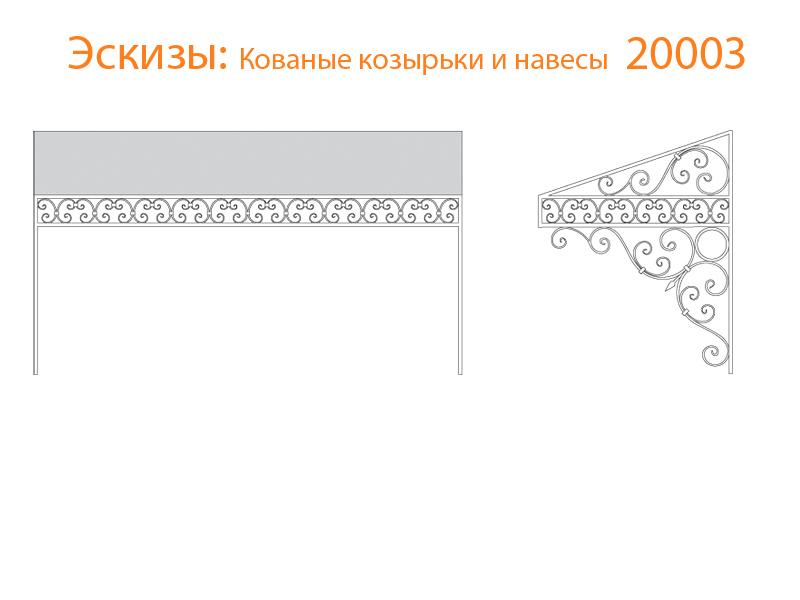 Кованые козырьки и навесы эскизы N 20003