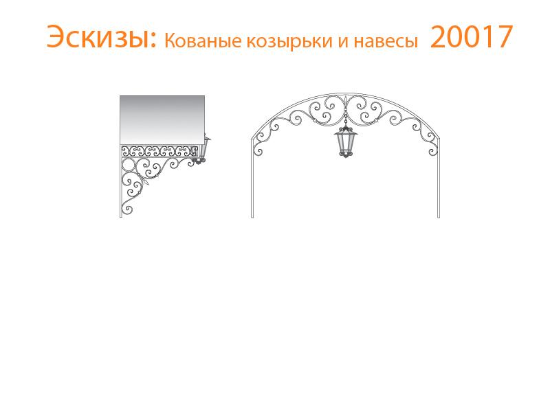 Кованые козырьки и навесы эскизы N 20017