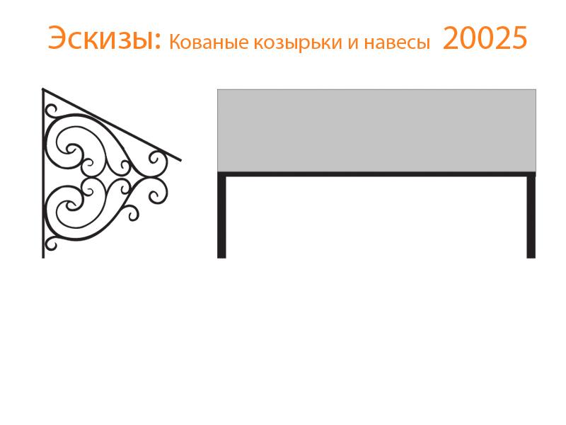 Кованые козырьки и навесы эскизы N 20025