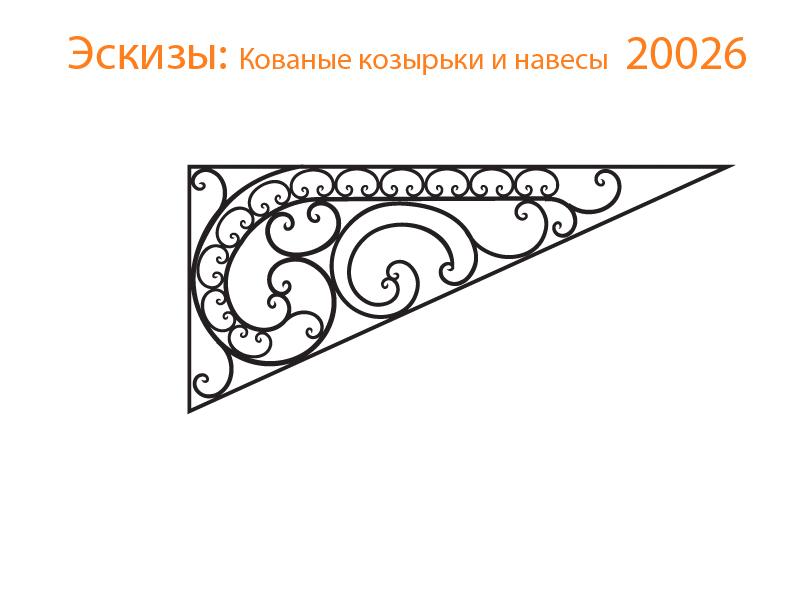 Кованые козырьки и навесы эскизы N 20026