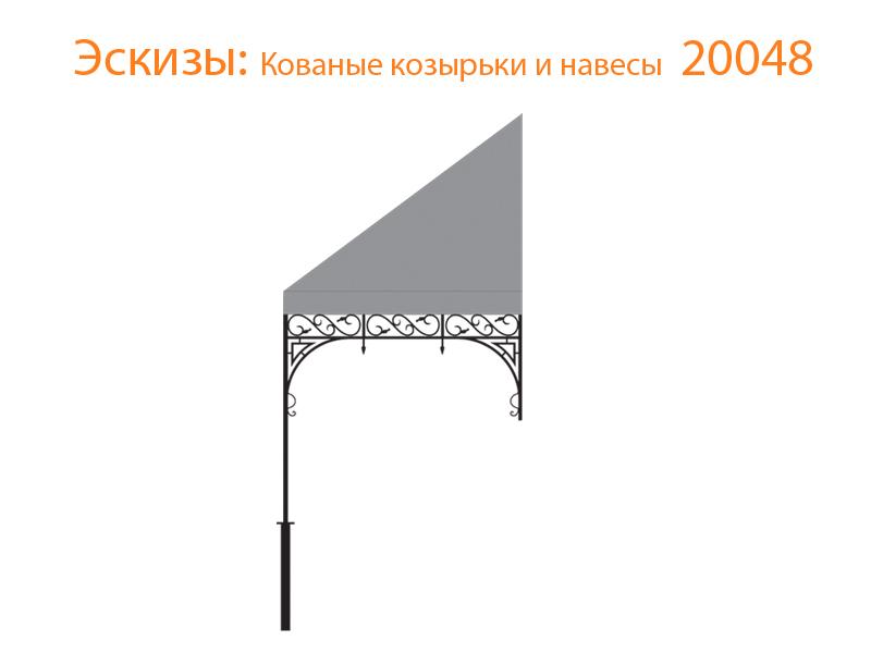 Кованые козырьки и навесы эскизы N 20048