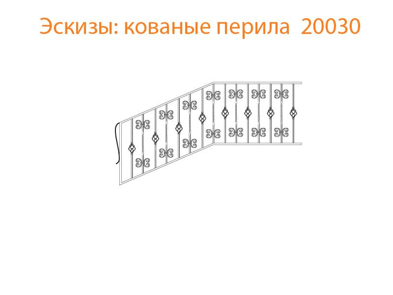 Кованые перила эскизы N 20030