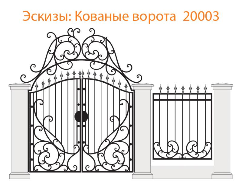 Кованые ворота эскизы N 20003