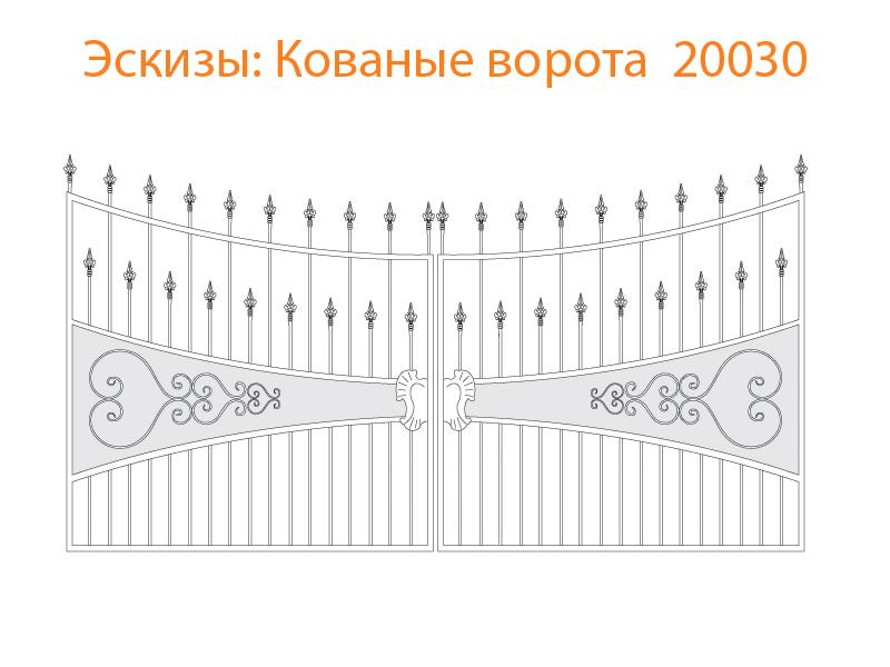 Кованые ворота эскизы N 20030
