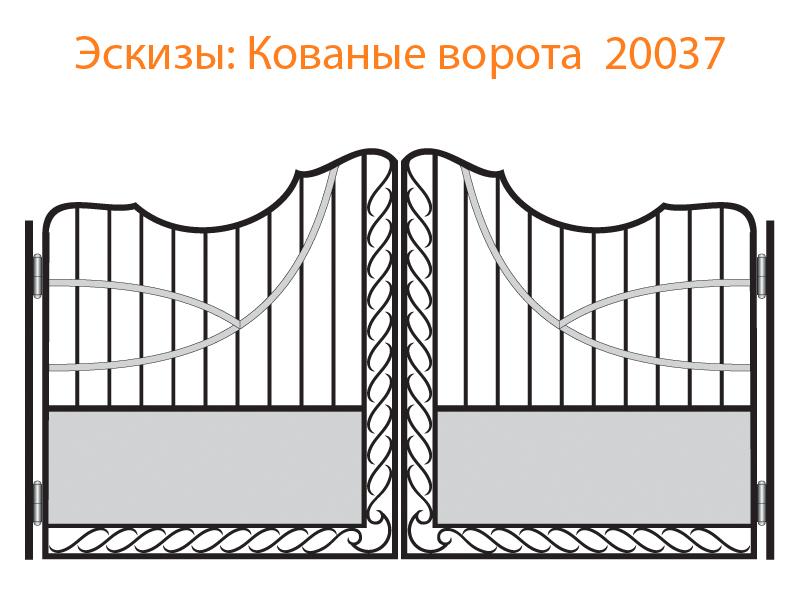 Кованые ворота эскизы N 20037