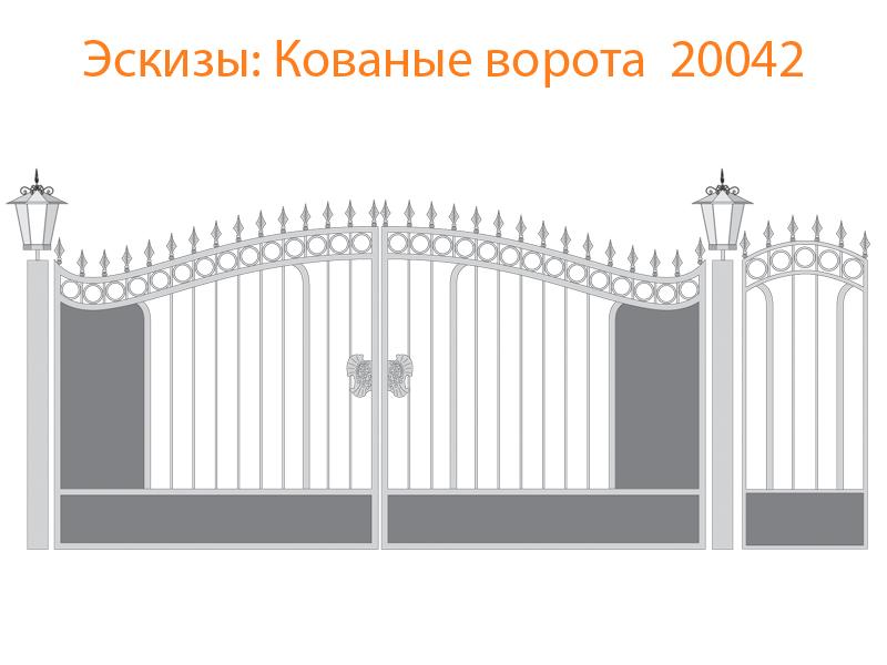 Кованые ворота эскизы N 20042