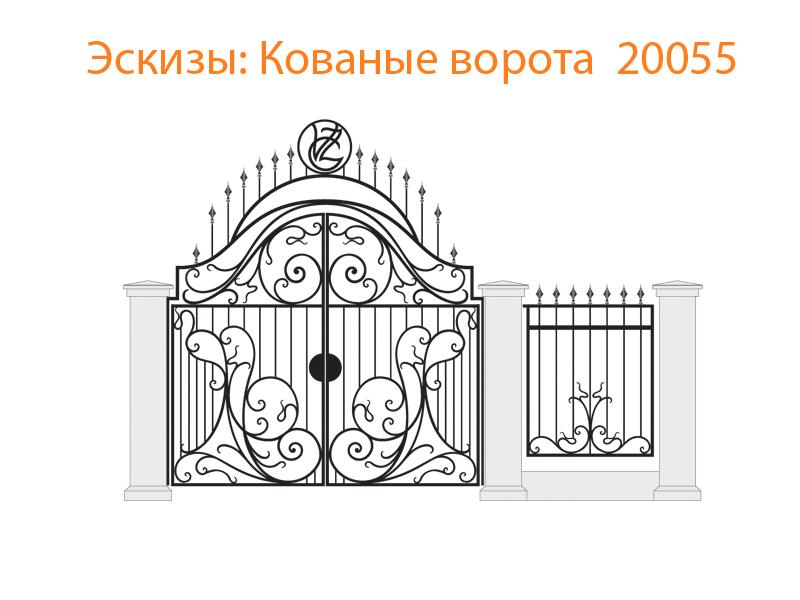 Кованые ворота эскизы N 20055