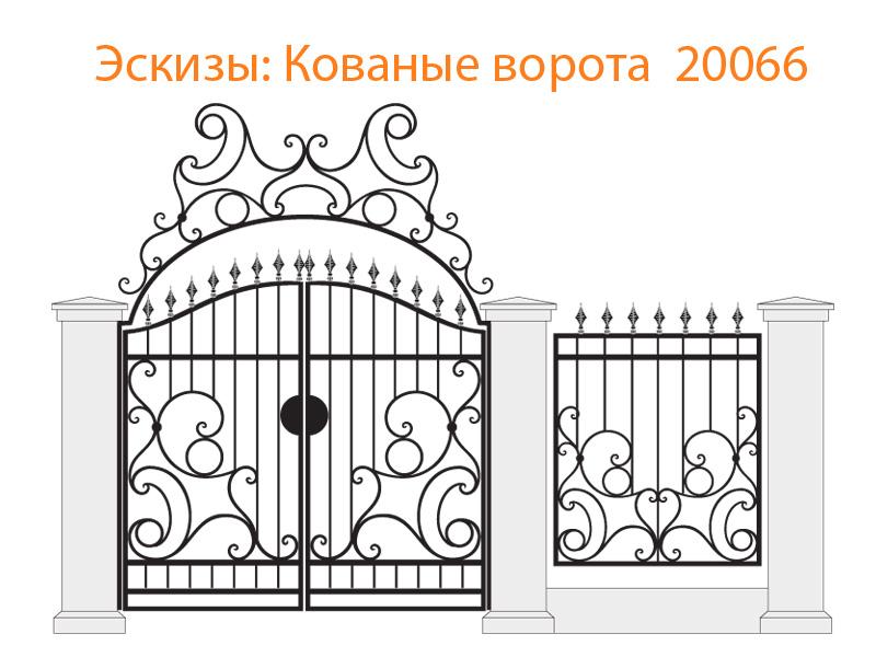 Кованые ворота эскизы N 20066