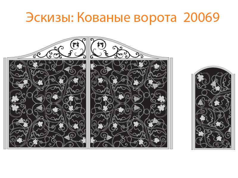 Кованые ворота эскизы N 20069