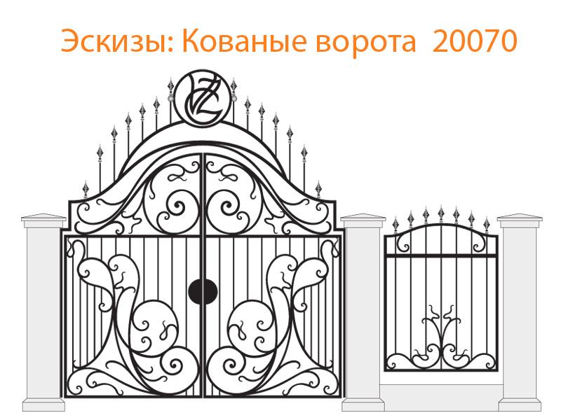 Кованые ворота эскизы N 20070