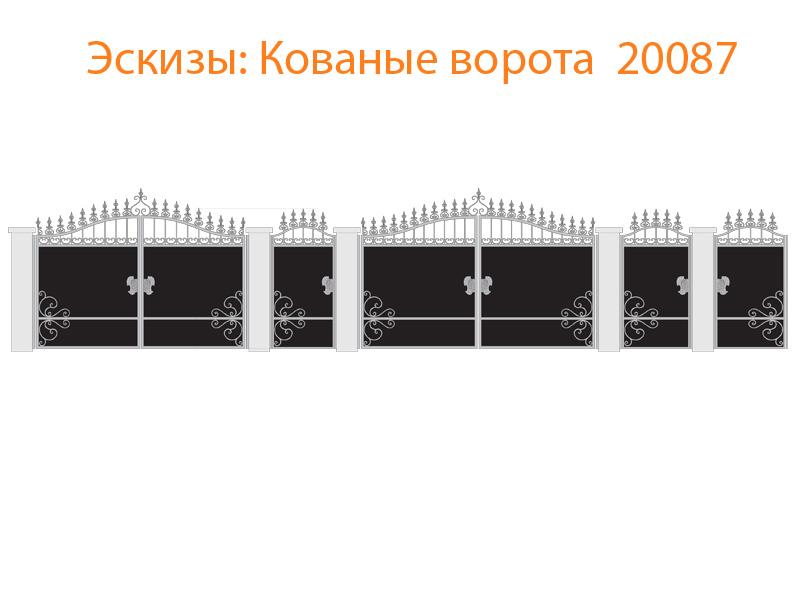 Кованые ворота эскизы N 20087