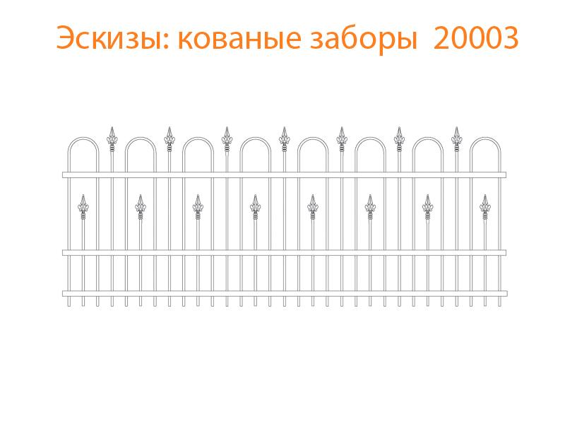 Кованые заборы эскизы N 20003