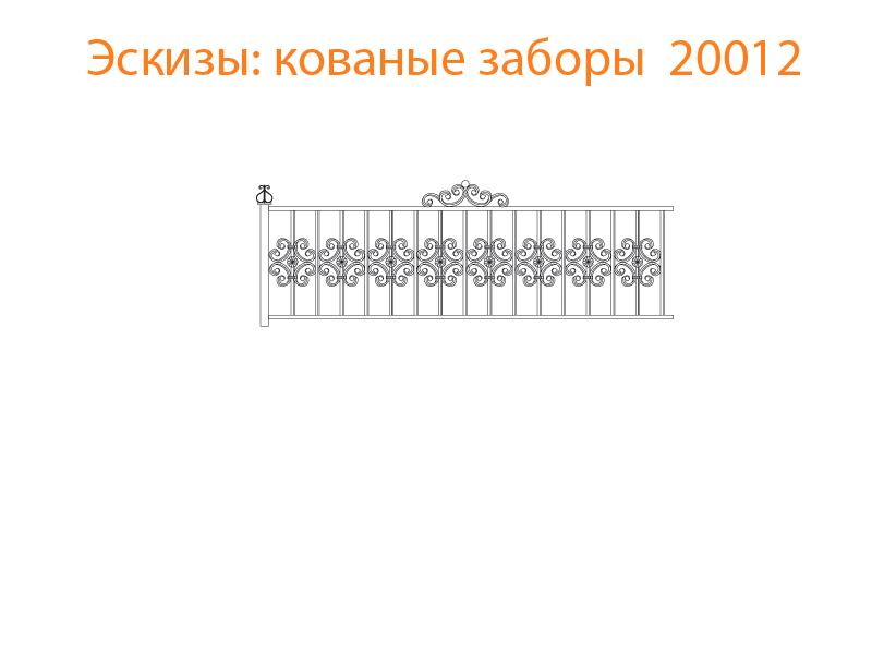 Кованые заборы эскизы N 20012