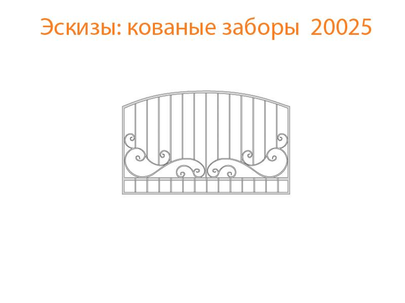 Кованые заборы эскизы N 20025