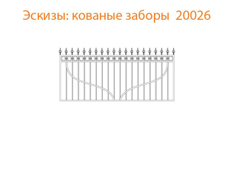 Кованые заборы эскизы N 20026