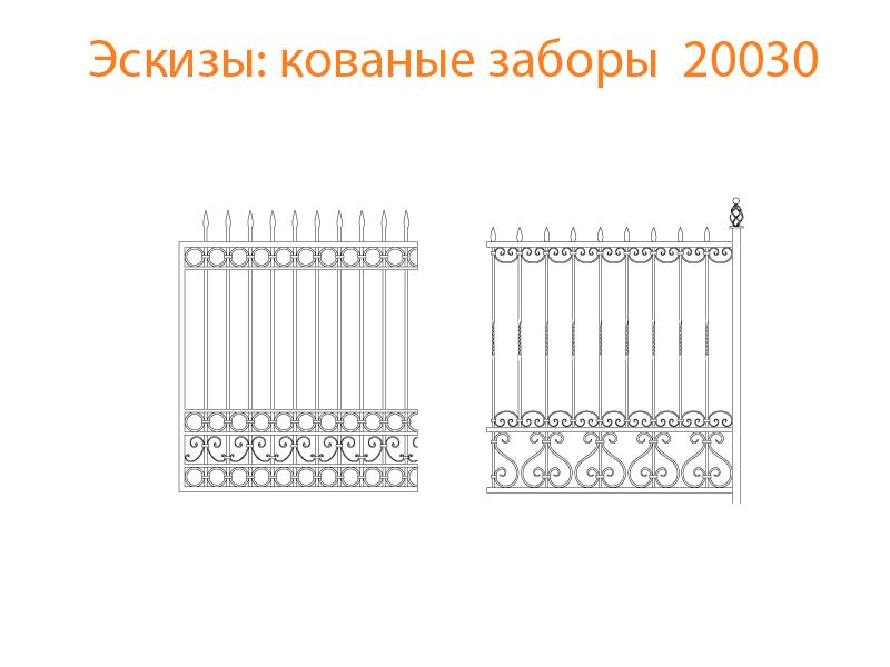 Кованые заборы эскизы N 20030