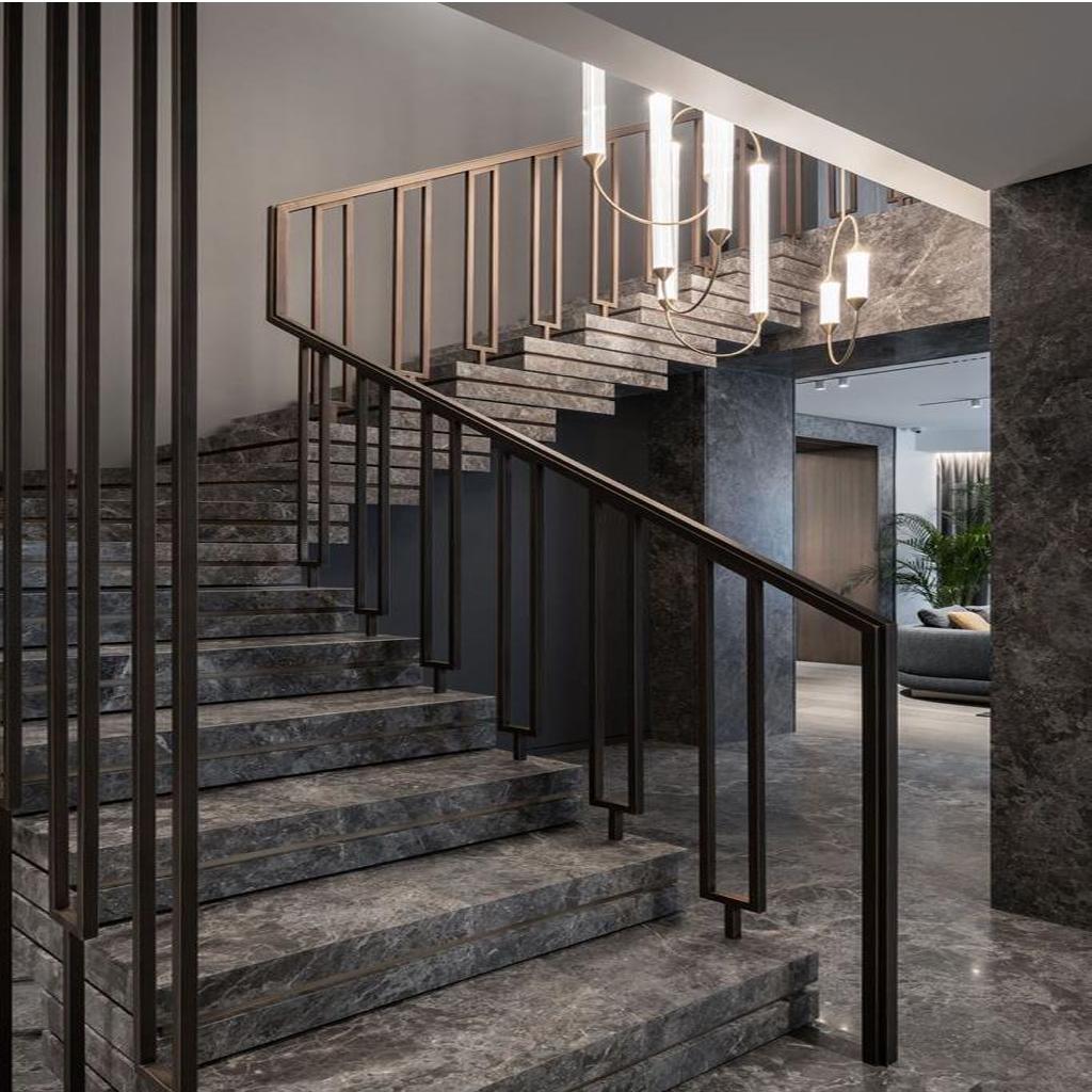 Каменные лестницы под ключ L-1007