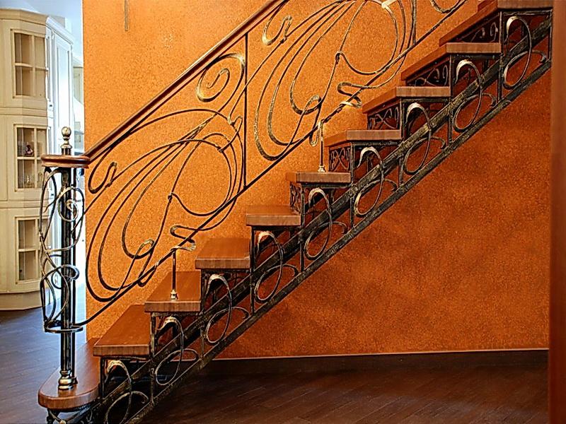 Кованая каркасная лестница N 3-4046