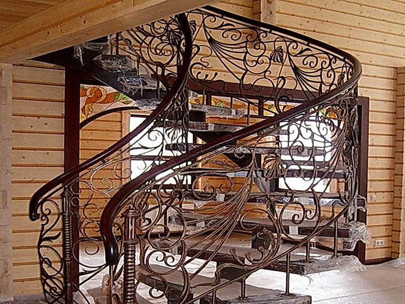 Кованая каркасная лестница N 3-4054
