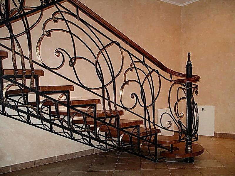 Кованая каркасная лестница N 3-4058