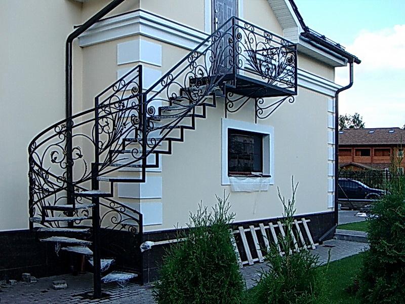 Кованая каркасная лестница N 3-4059