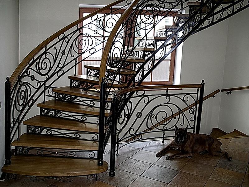 Кованая каркасная лестница N 3-4060