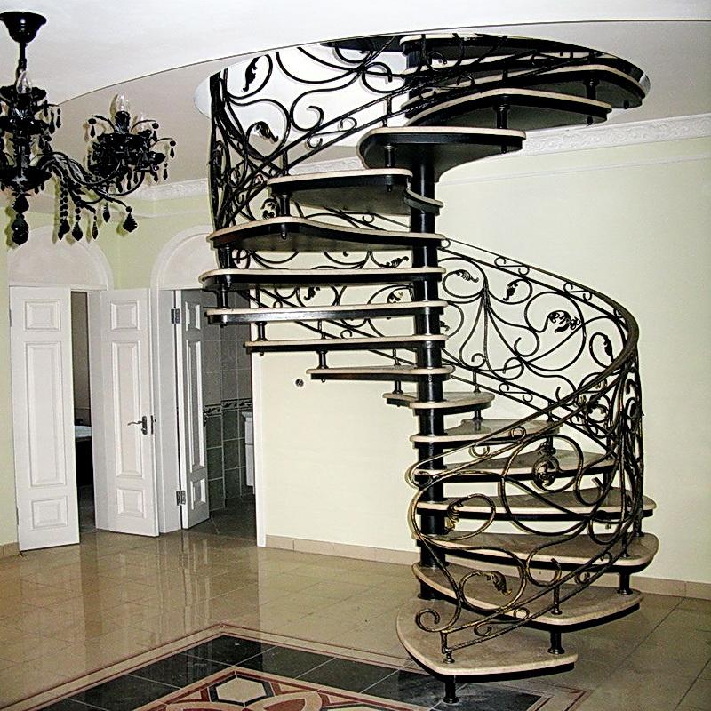 Кованая каркасная лестница N 3-4061