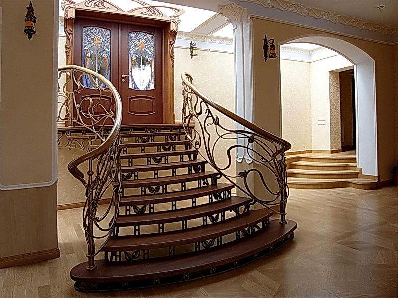 Кованая каркасная лестница N 3-4065