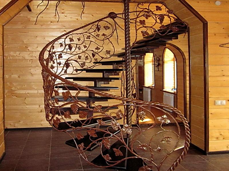 Кованая каркасная лестница N 3-4066