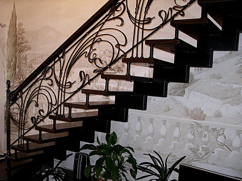 Кованая каркасная лестница N 3-4068