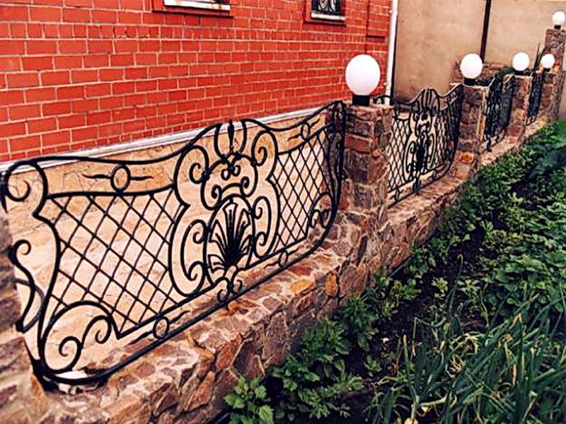 Кованая ограда и заборы N 5001