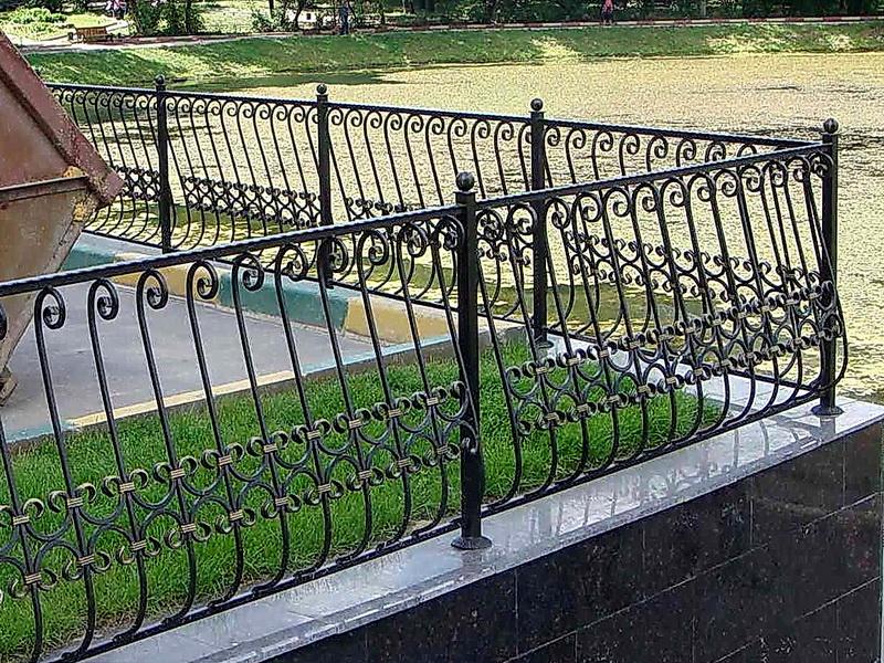 Кованая ограда и заборы N 5004