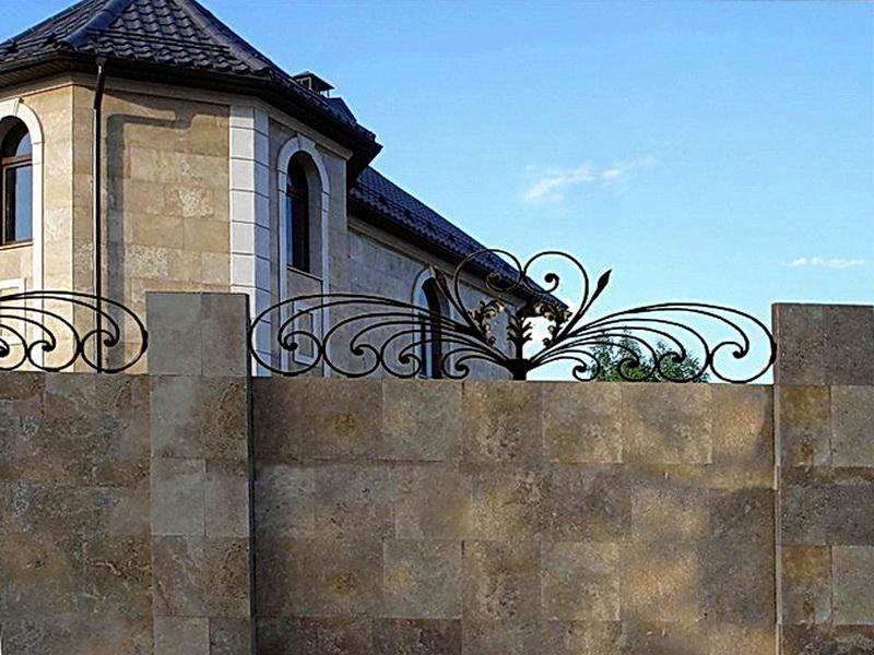 Кованая ограда и заборы N 5014