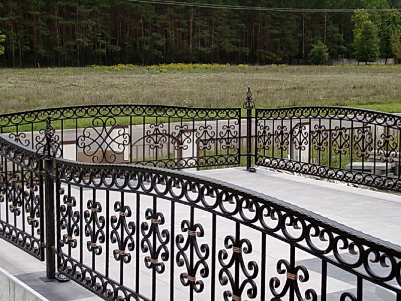 Кованая ограда и заборы N 5018