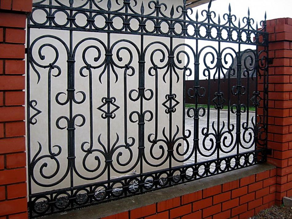 Кованая ограда и заборы N 5019