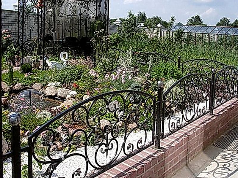 Кованая ограда и заборы N 5022