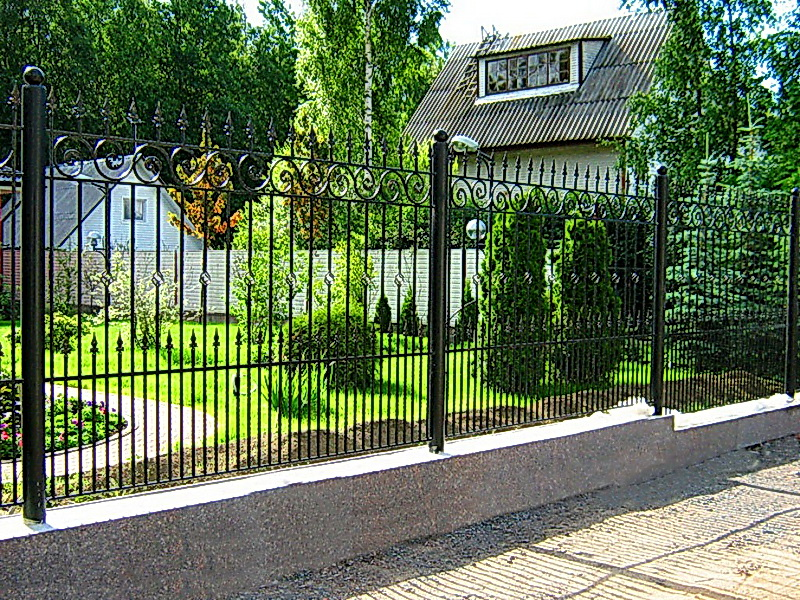 Кованая ограда и заборы N 5025