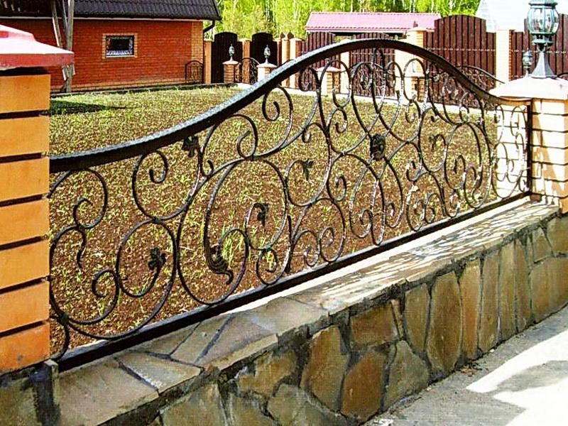 Кованая ограда и заборы N 5031