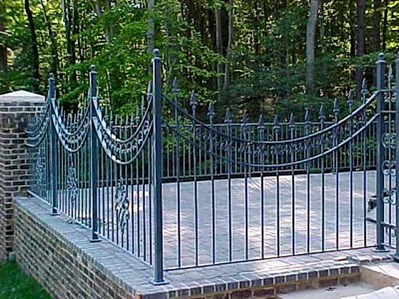 Кованая ограда и заборы N 5032