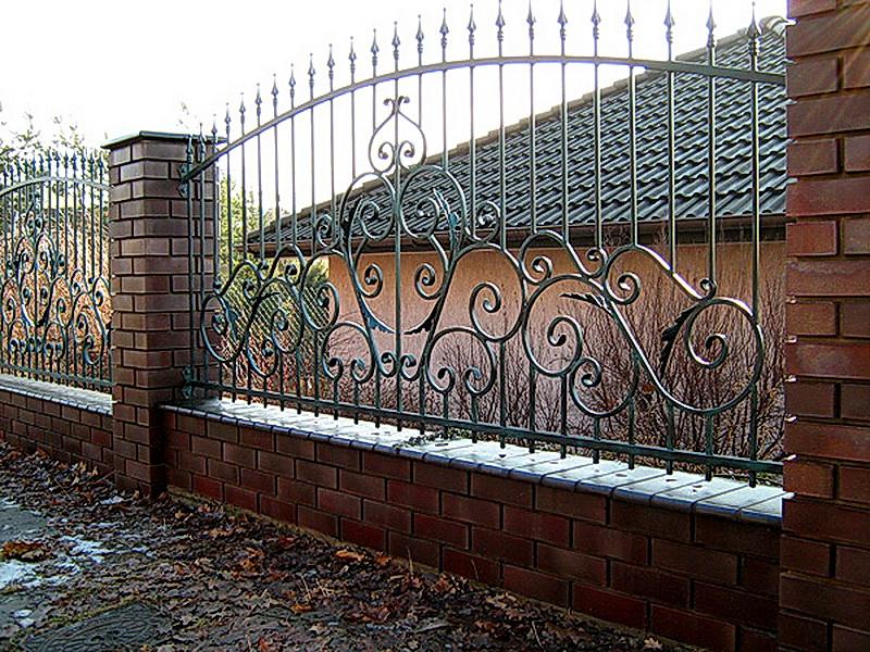 Кованая ограда и заборы N 5033