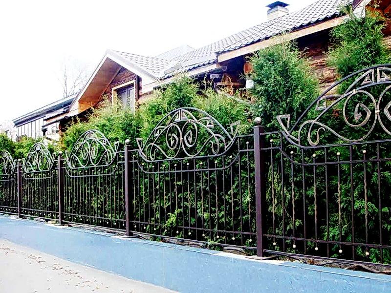 Кованая ограда и заборы N 5034