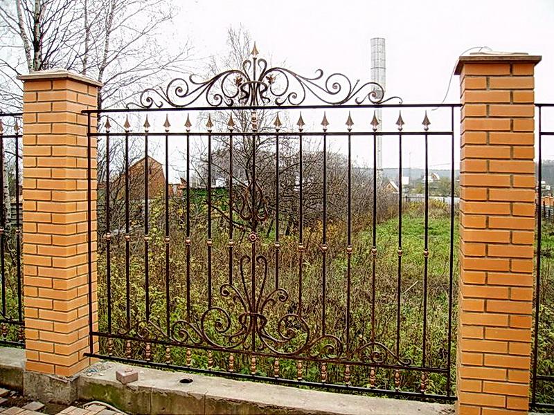 Кованая ограда и заборы N 5037
